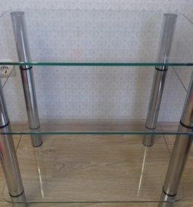 Тумба, стол стеклянный