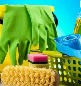 Уборка квартир,домов,помещений.
