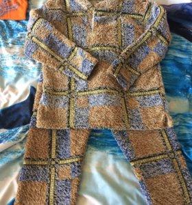 Пижама тёплая бу 116-128