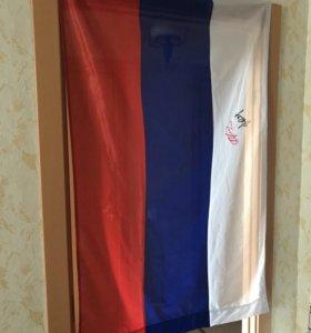 Российский флаг с подписями Аршавина, Семшова