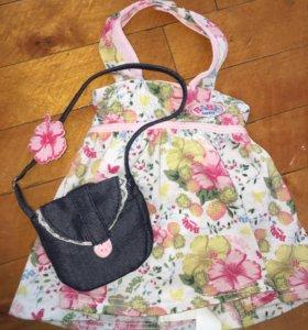 Платье и сумочка для baby born