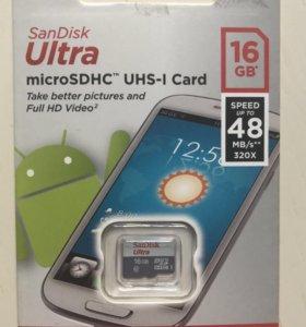 Карта памяти San Disk ultra 16GB