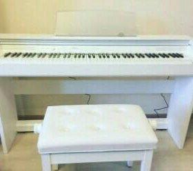 Пианино Casio Privia White с банкеткой