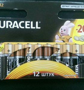 Батарейки Duracell AA 12шт.