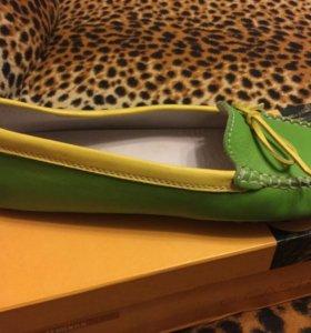 Мокасины кожаные,Италия 37 размер