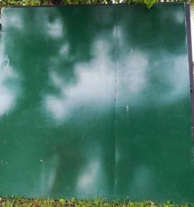 Ворота металлические распашные 2на2 заборные