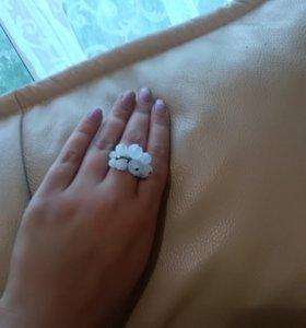 Кольцо лунный камень безразмерное