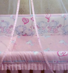 Детский набор постельного белья в кроватку