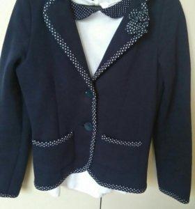 Школьный пиджак + блузки рост 134