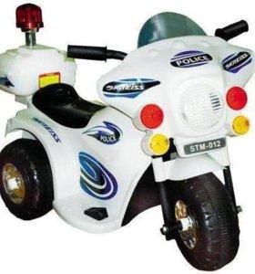 Элекромотоцикл детский, по цене машинки р/у машины