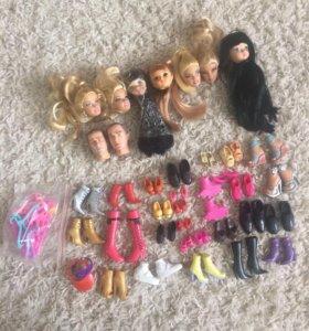 Кукольная обувь ,аксессуары и головы