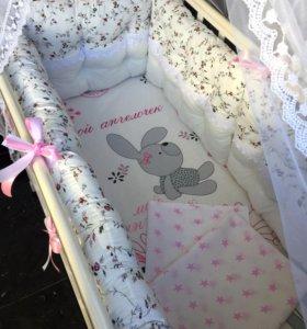Бортики в детскую кроватку (набор)