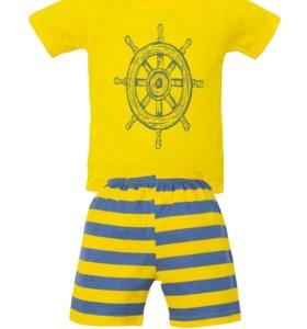 Комплект для мальчика футболка с шортами новый