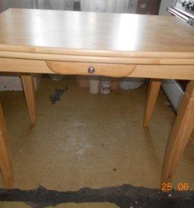 Обеденный стол раскладной, массив ясеня