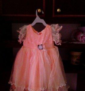 Детское платье для принцессы.на два три годика..лу