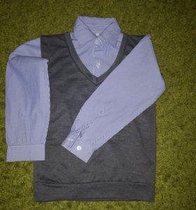 Рубашка обманка-двойка