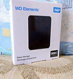 Новый WD Elements Portable 500 GB