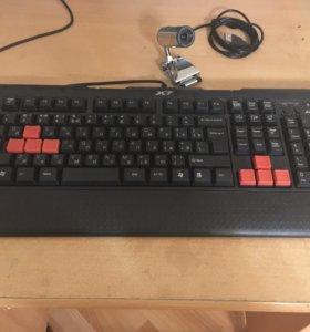 Клавиатура + вебка