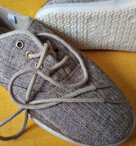 Детские новые летние туфли для девочек текстиль