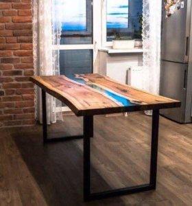 Обеденный стол из слэба