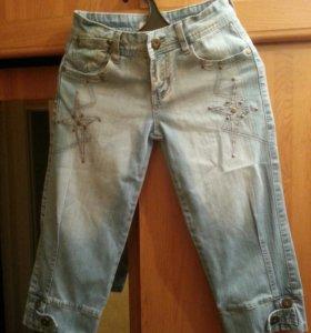Бриджи джинсовые на девочку 26 размер