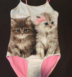 Купальник для девочки с котятами