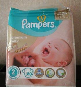 Pampers Premium Care 2 3-6кг 80шт