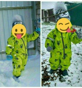 Зимний комбинезон Lassie, шапки и термобелье