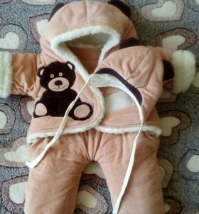 Конверт-комбинезон теплый, зимний для новорожденны
