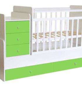 Кроватка-трансформер с пеленальным комодом
