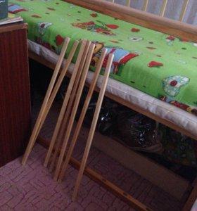 Кроватка с оторпедичнским матрасиком