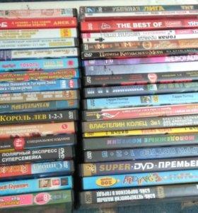 DVD диски с мультфильмами и фильмами.