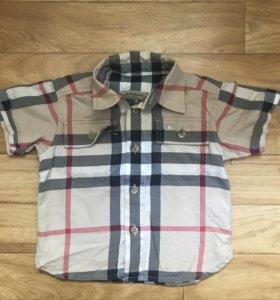 Рубашка Burberry оригинал. По бирке 6мес