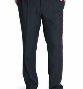 128-146,новые школьные брюки,темно-синие