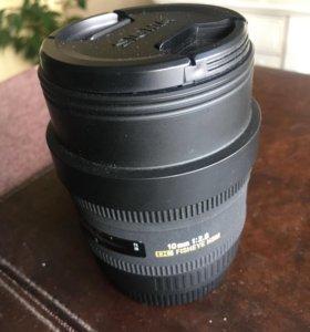 Новый фотообъектив sigma Fisheye 10mm 1:2.8