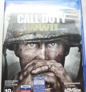Диск на ps4 Call of Duty wwll