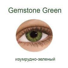 Линзы +1,5, изумрудно зелёный,