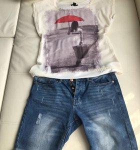 Шорты джинсовые и блузка