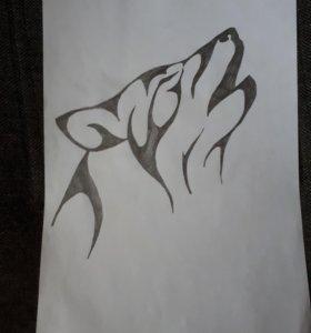 Рисунки. Сама рисую.