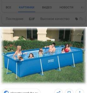 Каркасный бассейн б/у