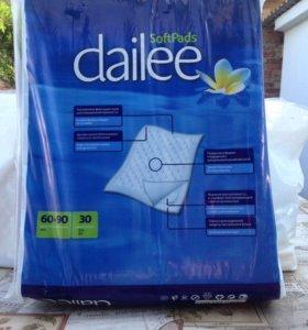Пеленки впитывающие Dailee Дейли разм. 60х90