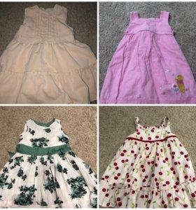 Платья на девочку 86-100 см