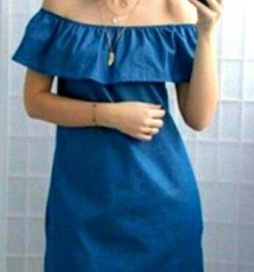 Платье-туника джинсовая 42-44
