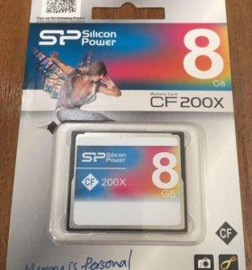 Новая Compact Flash Card 8 Gb