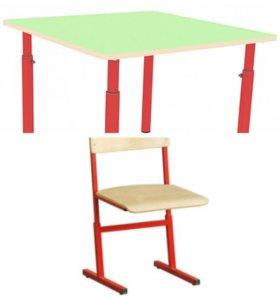 Стол и стул детский регулируемый