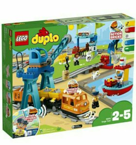 Lego Duplo грузовой поезд 10875, новинка, новый