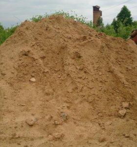 Песок на подсыпку, трактор, доставка