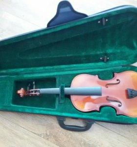 CHALEAU 1/2 скрипка с футляром из вилюра