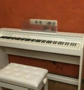 Casio Privia White пианино с банкеткой