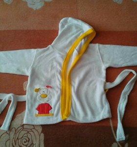 Детский халат+полотенце